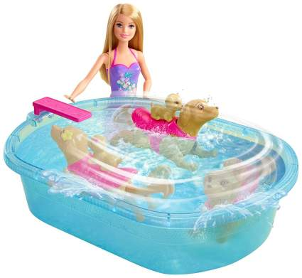 barbie swimming pool pup