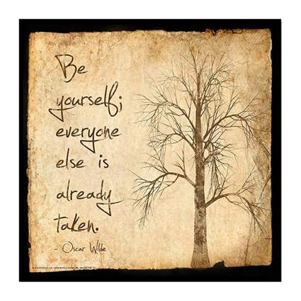 be yourself motivational poster