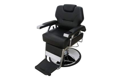 Plus black barbershop chair