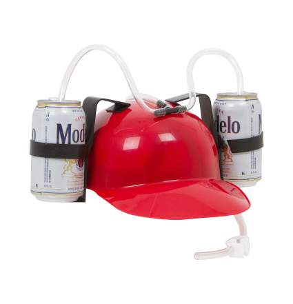 EZ drinker beer helmet