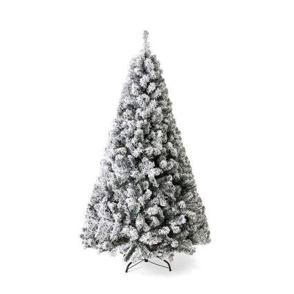best choice products flocked christmas tree