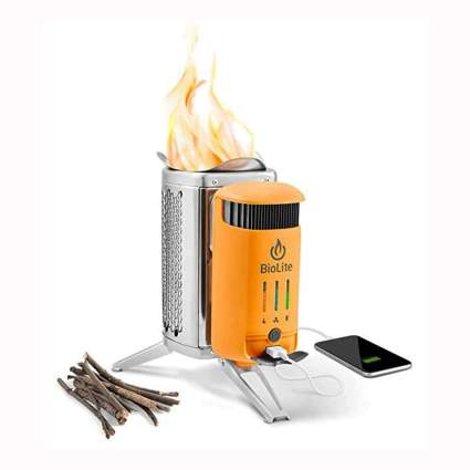 wood burning campstove and power bank