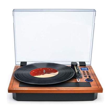 bluetooth turntable with built in speakers
