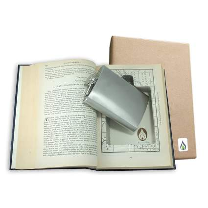 book safe with flask