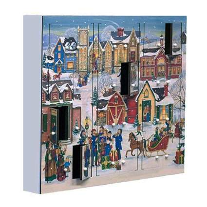 christmas village wooden advent calendar
