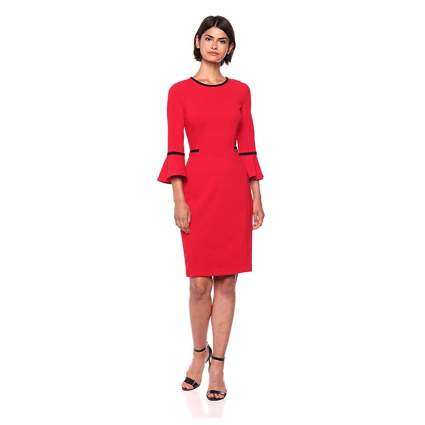 Calvin Klein Red Bell Sleeve dress