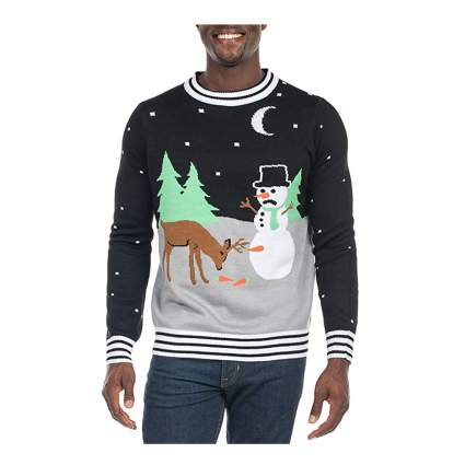 Carrot trail nightmare ugly christmas sweater