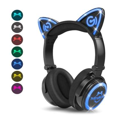 color changing cat ear wireless headphones