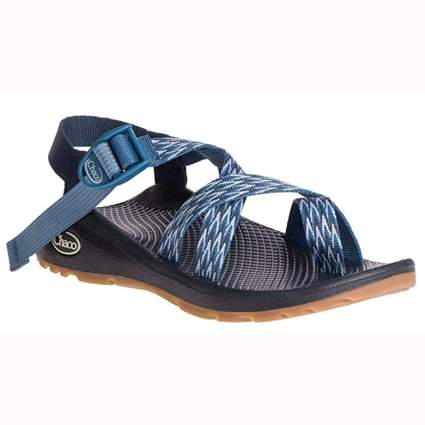 blue women's strappy sport sandal