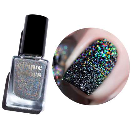 silver holographic top coat