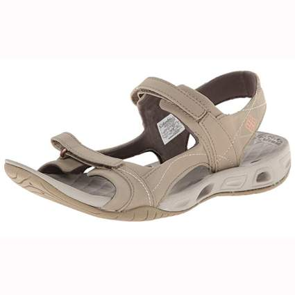 tan women's quick dry hiking sandals