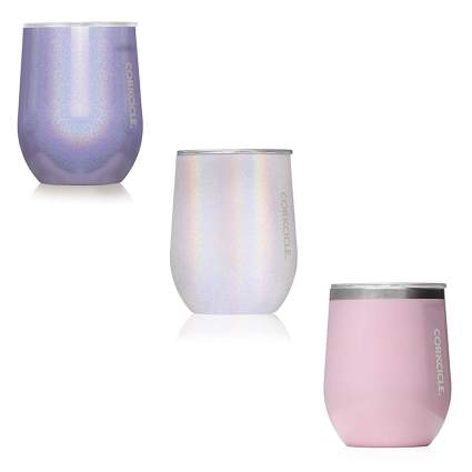 stainless steel stemless glass