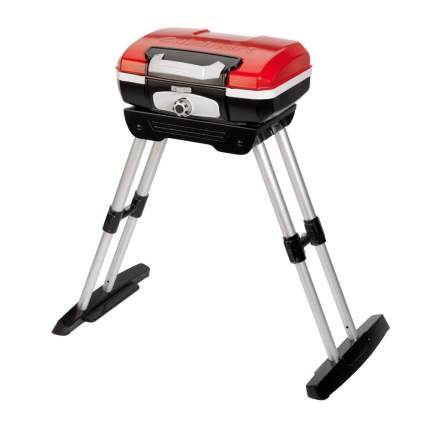 red tabletop gas grill