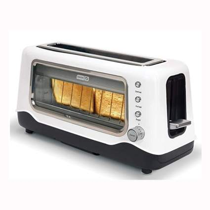 white clear sided toaster