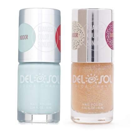 Bottles of sun reactive nail polish
