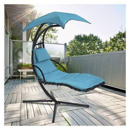 Floating blue lounge chair