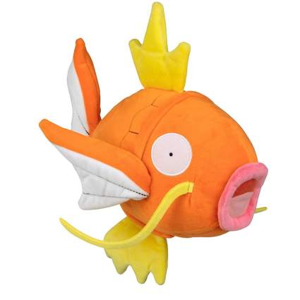 Wicked Cool Toys Pokémon Flopping Magikarp Plush - 10 Inch Interactive Pokemon Fish Toy Flops, Wiggles and Shakes