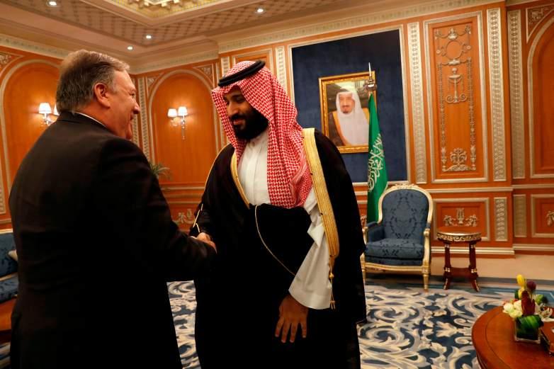 mike pompeo, saudi crown prince Mohammed bin Salman