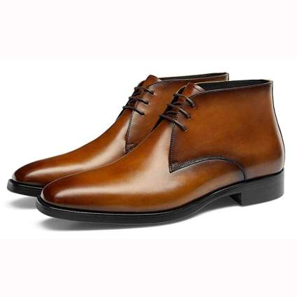 brown leather men's chukka boots