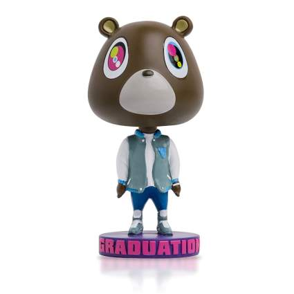 graduation bear bobble head