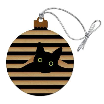 Graphics and more wooden christmas ornament