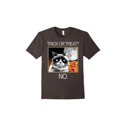 grumpy cat halloween shirt