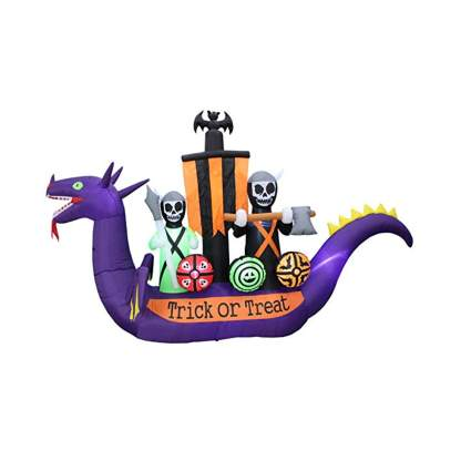 inflatable haunted dragon pirate ship