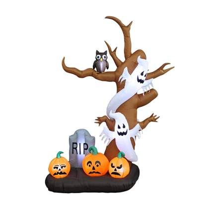 halloween inflatable tree with ghosts and pumpkins