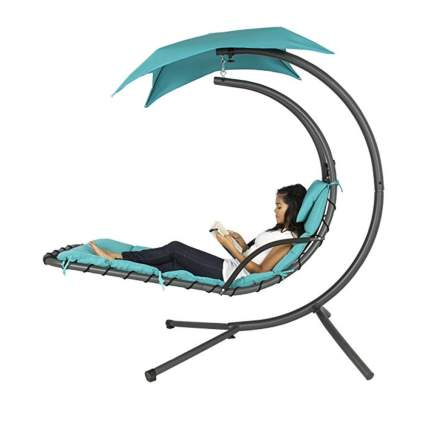 aqua hanging chaise lounge chair