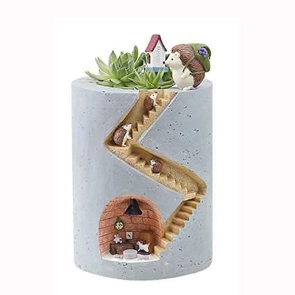 hedgehog succulent planter