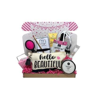 birthday gift box of goodies