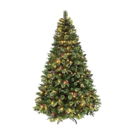 holiday stuff pine pre-lit christmas tree