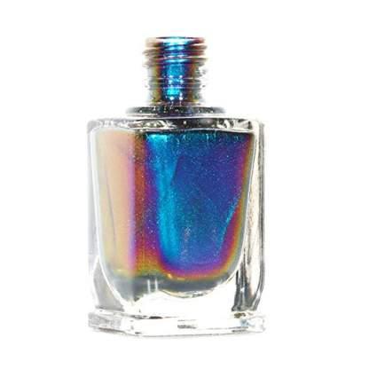 Blue multi-chrome polish bottle