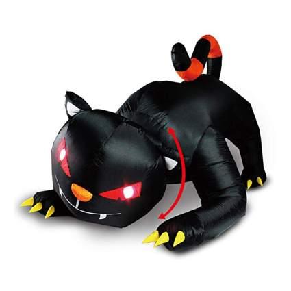 inflatable black cat