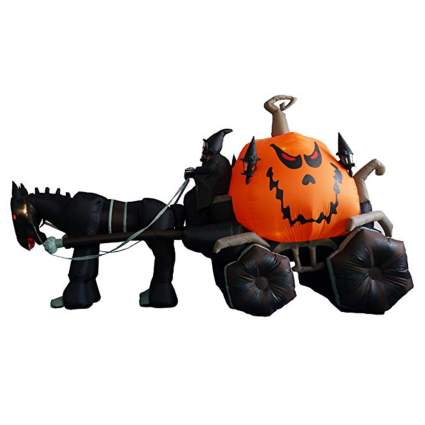 inflatable black halloween carriage