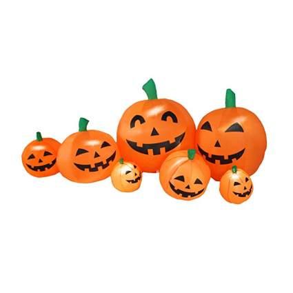 inflatable lighted halloween pumpkin patch