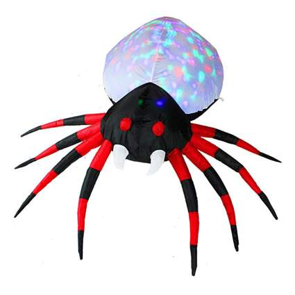 inflatable spider with kaleidoscope lighted body