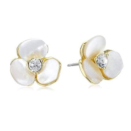 kate spade pearl pansy earrings