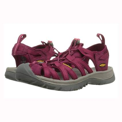 burgundy hiking sandals for women