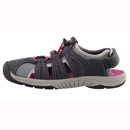 gray a nd pink Closed toe hiking sandals