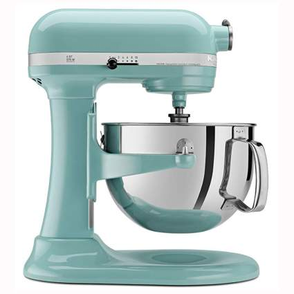 aqua kitchenaid lift stand mixer
