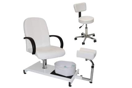 White portable pedicure unit