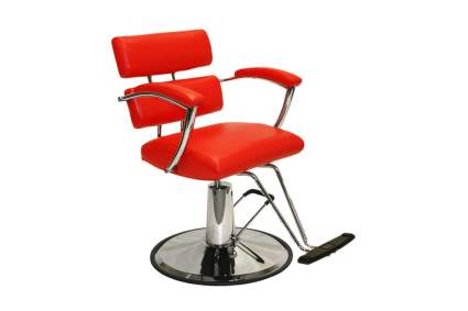 Red hair styling chair