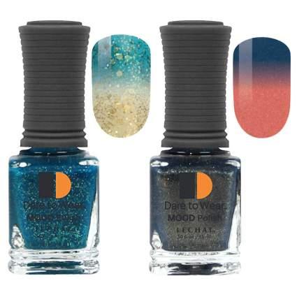 Mood nail polish swatches and bottles