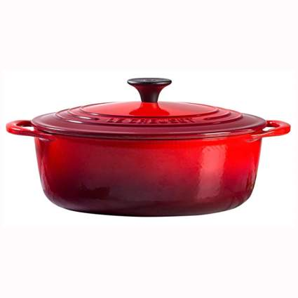 red enameled shallow dutch oven