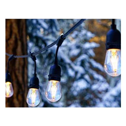 LED Edison patio string lights