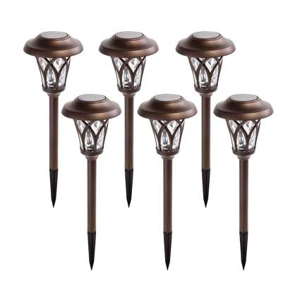 bronze LED solar pathway lights