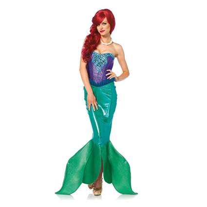 Woman dressed like Ariel