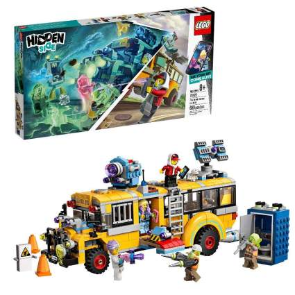 LEGO Hidden Side Paranormal Intercept Bus 3000 70423 Augmented Reality [AR] Building Kit with Toy Bus