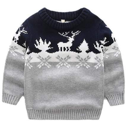LittleSpring Little Boys' Sweater Christmas Pullover